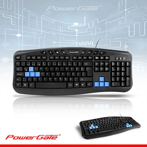 Powergate KB-X5 Q Multimedya Klavye Usb Siyah