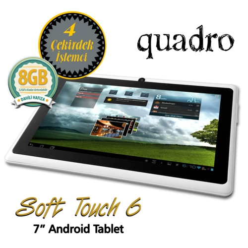 Quadro Soft Touch 6 1.33Ghz 1GB 8GB 7 Beyaz